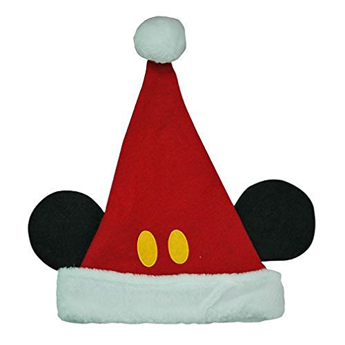 (Disney Mickey Mouse Ears Kids Santa Hat)