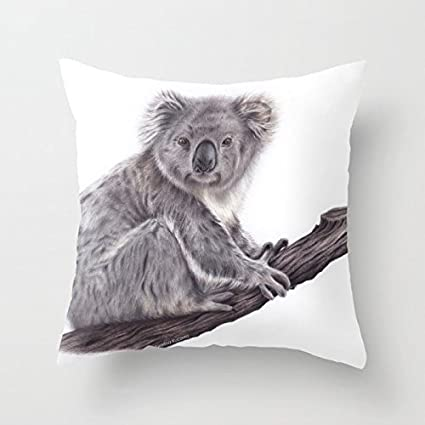 Magnificent Amazon Com Fjpt Throw Pillow Cover Koala Bear Set On The Andrewgaddart Wooden Chair Designs For Living Room Andrewgaddartcom