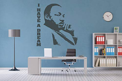 Martin Luthor King Jr Wall Sticker Vinyl Decal I Have a Dream Stencil Baptist Minister Art Gift