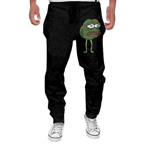 (Men Pepe The Frog Sad Casual Sweatpants L)