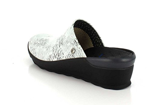 02575 black nbsp;go Leather White 70110 Comodidad Canal Wolky 45RqR