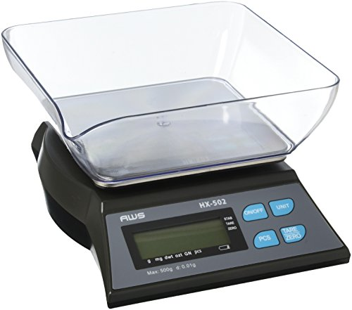 AWS HX-502 Table Top Loader Bench Scale 500g x 0.01g AC Adapter American Weigh Scales (Function Of Triple Beam Balance In Laboratory)