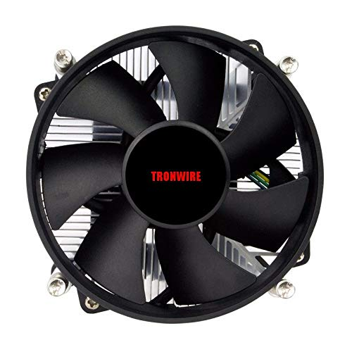 TRONWIRE TW-3 Premium Intel Core i3 / i5 / i7 Socket 1156/1155 / 1151/1150 4-Pin Connector CPU Cooler With Aluminum Heatsink & 3.62-Inch Fan With Pre-Applied Thermal Paste by TronStore (Image #1)