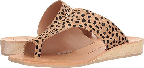 Dolce Vita Women's HAZLE Slide Sandal Leopard Calf Hair 8 M US