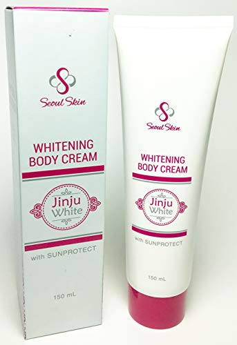 Jinju White Korean Formula Skin Whitening Body Cream with Sun Protect 150ml - Instant Whitening Bleaching Effect