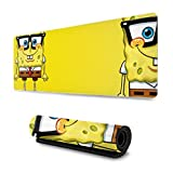 Extended Mouse Pad - Spongebob XXL Gaming Computer Mousepad 31.5 X 11.8 X 0.12inch
