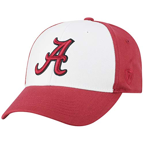 Top of the World NCAA-Premium Collection Two Tone-One-Fit-Memory Fit-Hat Cap- Alabama Crimson Tide