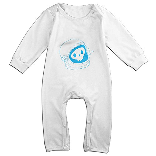 Raymond Space Doodle Long Sleeve Jumpsuit Outfits White 24 Months - Retro Space Suit Costume