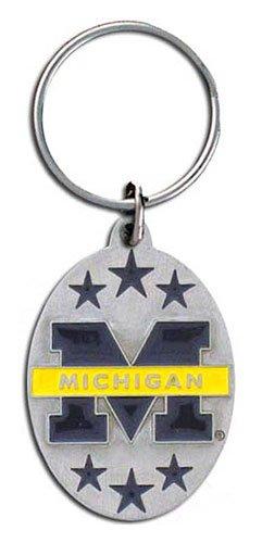 Michigan Wolverines Keychain & Keyring - Pewter