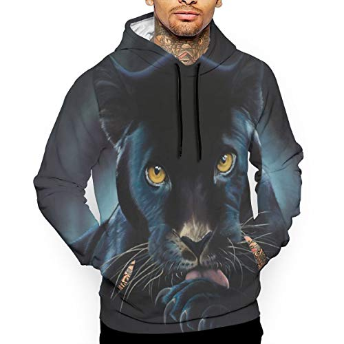 - Go KJ Unisex Black Panther Painting Hoodies Cool Pullover Hood Jackets Sweatshirt