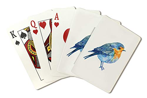 - Watercolor Bird on a White Background Illustration A-90866 (Playing Card Deck - 52 Card Poker Size with Jokers)