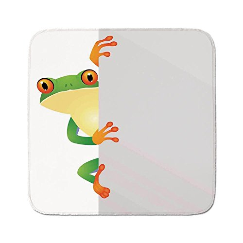 Cozy Seat Protector Pads Cushion Area Rug,Reptiles,Funky Frog Prince with Big Eyes on the Wall Camouflage Nursery Reptiles Decor,Green Yellow Orange,Easy to Use on Any ()