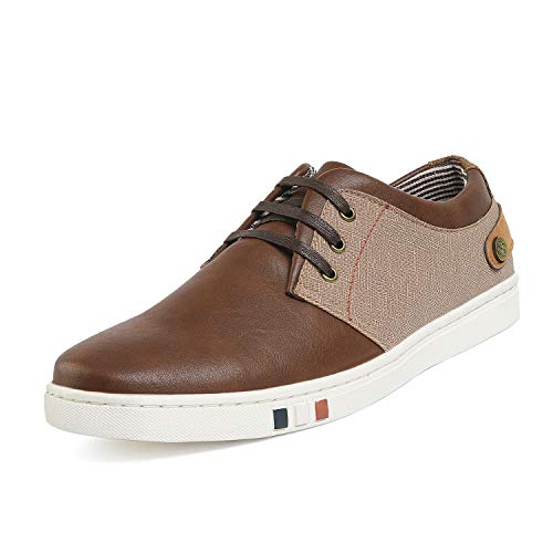 Bruno Marc Men's NY-03 Brown Fashion Oxfords Sneakers Size 9 M US ()