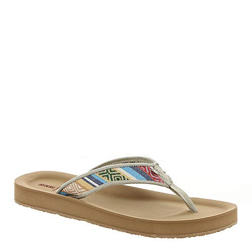 Minnetonka Womens Hedy Sandal, Cortez Fabric, Size 9