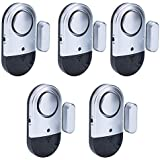 Door Window Alarm 5 PCS Home Security Magnetic Sensor 120DB Alert for Home Business Kids