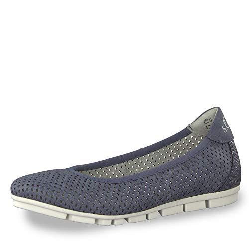 22100 oliver S D'été Ballerines Classiques Comb sportif Femme Blue 22 chaussures wpwC5Hq