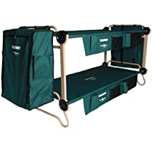 Disc-O-Bed with Side Organizers, Set of Leg Extensions, and Storage Cabinet