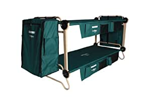 Disc-O-Bed Cam-O-Bunk Cot with 2 Organizers, 2  Cabinets and Leg Extensions, X-Large