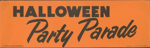 Dairy Queen Halloween Party Parade poster 1956