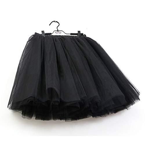 Ballet Danse De Tutu Bouffante Jupe Dames Vintage Robe Festivités Courte Petticoat Elastique Carnaval Jupon En Plissée Noir Tulle Wqianghzi Princesse Féminine Mini drCoQWxBe