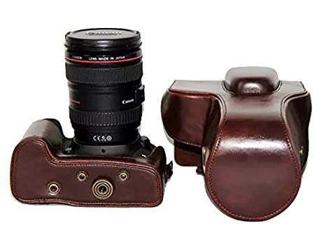 Amazon CEARI Detachable Protective Leather Camera Case For