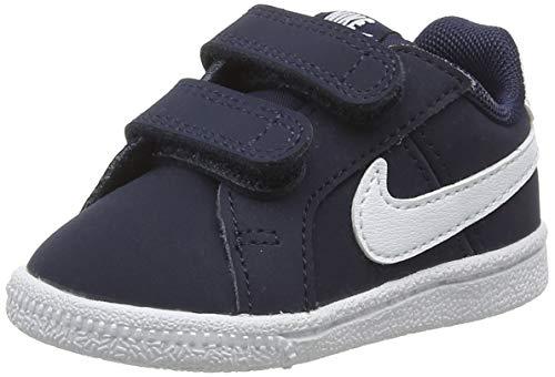 NIKE Kids' Court Royale Sneaker (TDV), Obsidian/White, 2 M US Infant