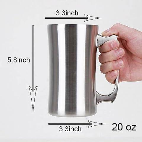 Insulated Cup, OrgMemory Stainless Steel Coffee Mug, 20 oz Coffee Mug, (560 ml), Double Wall Beer Stein, Tumbler with…