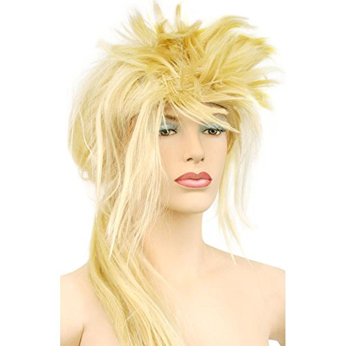 Labyrinth Costume David Bowie (Women's Blonde 80's Style Wig)