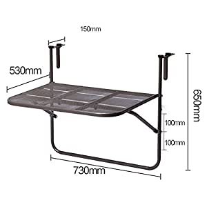 Ajustable mesa plegable estantes de balc n de hierro estante de pared colgante de estante Mesa colgante balcon