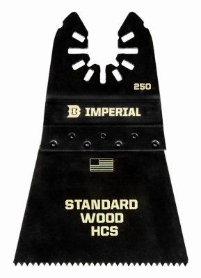 Imperial Blades IBOA250-1 Oscillating Tool Blade, Fast Wood HCS, 2.5-In. - Quantity 25