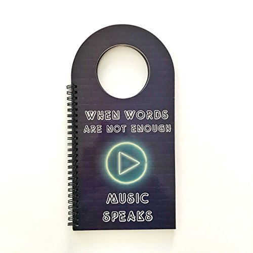 Singers Presents - Made With Tone, Door Hanger Book for Music Lovers, Great Room Decor for Boys and Girls, Door Decorations for Singers, Musicians or Music Teachers! NEON Desing!