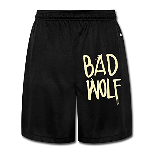 [Runy Men's Bad Wolf Slim Sports Jogging Shorts With Pocket Black] (The Funniest Halloween Costumes)