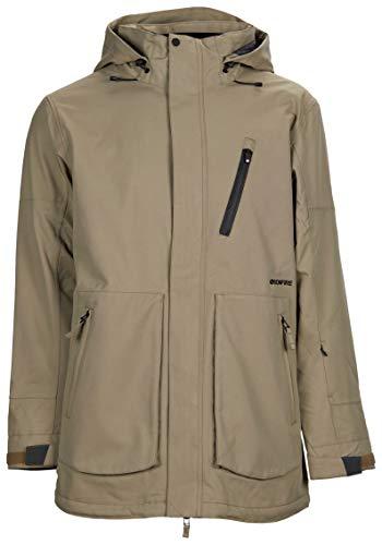 Bonfire Snowboarding Jacket - Bonfire Strata Insulated Snowboard Jacket Khaki Mens Sz XL