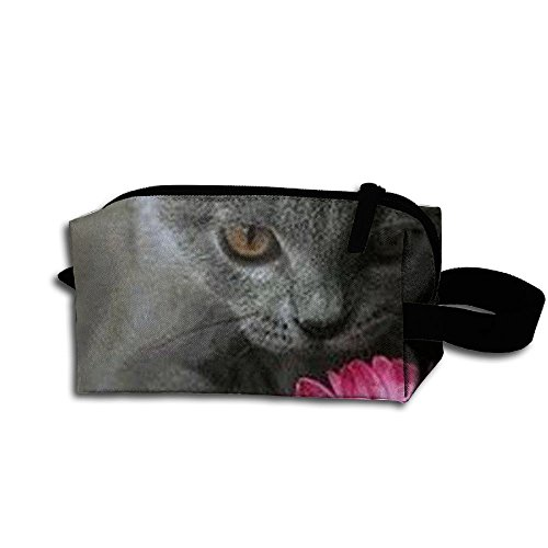 Cats And Flowers New Mexico Storage Cosmetic Bag Portable Travel Makeup Bag Packing Pouches