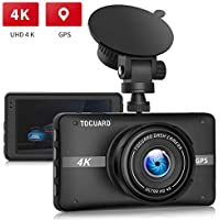 Toguard CE52G 170-Degree Wide Angle 4K UHD GPS Car Dash Cam