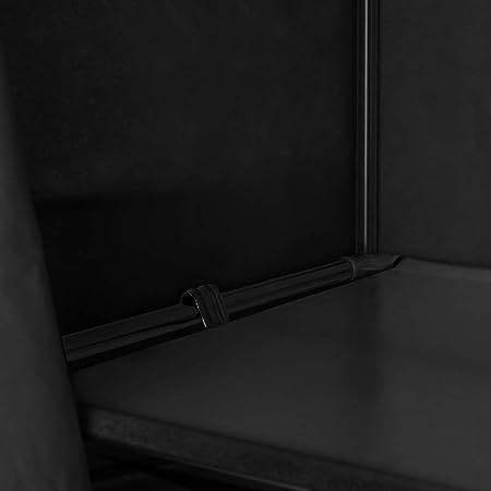 PrimeMatik - Armario ropero guardarropa de Tela Desmontable 70 x 45 x 155 cm Negro