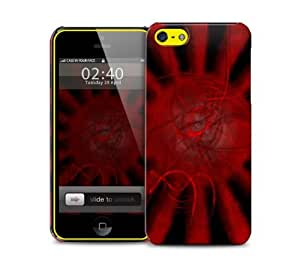 Red Sun Rise iPhone 5c protective phone case by icecream design