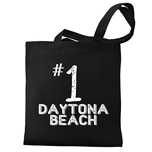 Eddany Number 1 Daytona Beach Canvas Tote - Shopping Daytona Beach
