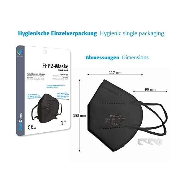 Fluffy-Dreams-I-FFP2-Partikelfiltrierende-Halbmaske-Mund-Nasen-Schutz-Maske-mit-CE-Zertifikat-FFP2-Atemschutzmaske-I-5-lagig-Maske-CE-zertifiziert-Mundschutzmaske-I-20-Stck-EINZELVERPACKT-I-SCHWARZ