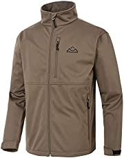 TBMPOY Mens Softshell Polar Fleece Jacket Full-Zip Track Athletic Hiking Jacket,Water Resistant Insulated Winter Jacket
