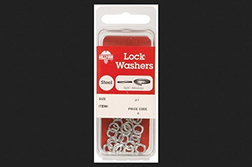 Hillman No. 8 Split Lock Washer Zinc Plated Steel 40 / Card