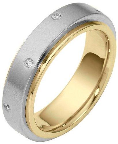 (Two-Tone 14 Karat Gold Designer SPINNING Diamond Eternity Band Ring - 10)