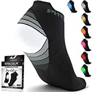 Compression Running Socks for Men & Women – Best Low Cut No Show Athletic Socks for Stamina Circulation & Recovery…