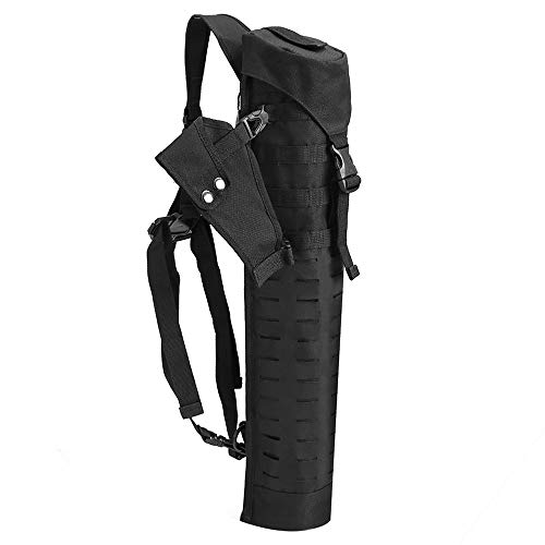 - ZJY Back Arrow Quiver Portable Large Capacity Design 500d Oxford Cloth Top Buckle Adjustable Shoulder Strap Ideal Outdoor Hunting Equipment