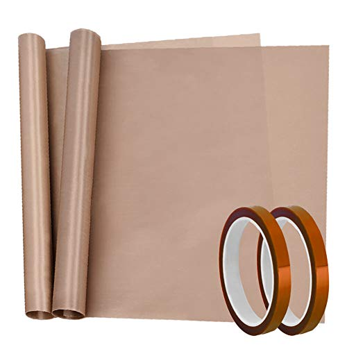 - Selizo 4 Pack Heat Tape Hight Temp Tape and Teflon Sheet for Vinyl Heat Press, Sublimation Heat Resistant