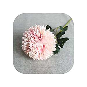 Sweet*love 12Pcs Fake Long Single Stem Dandelion Simulation Oil Painting Chrysanthemum Ball for Wedding Home Decorative Artificial Flowers,Pink 82