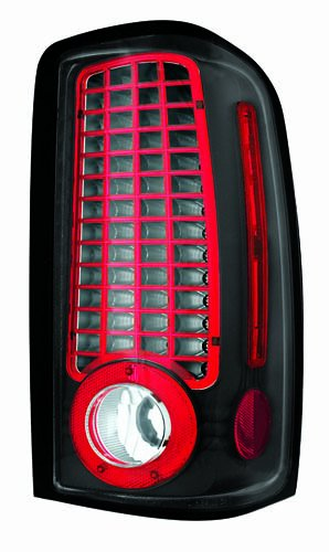 Bermuda Yukon Gmc (IPCW LEDT-304CB Bermuda Black LED Tail Lamp - Pair)