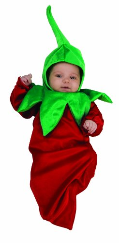 Best Newborn Halloween Costumes - Rubie's Costume Deluxe Baby Bunting, Chili Pepper, 0-9 Months