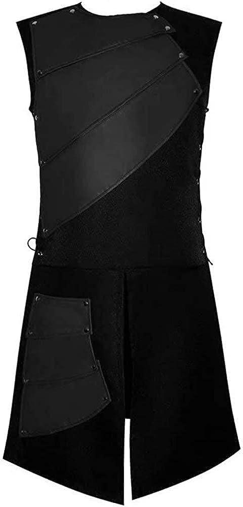 Accesorios De Latón Traje De Falda Cuero De Clásico Pesado Gladiador Romano Negro Cinturón Delantal De Cosplay De La Armadura para Los Hombres