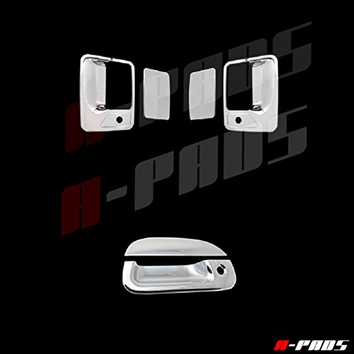 A-PADS 1999-2007 Ford F250 SuperDuty Chrome 2 Door Handle Covers + Tailgate Cover With Keyhole